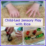 Child-Led Sensory Play with Rice