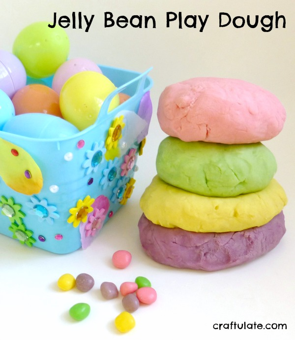 Jelly Bean Play Dough - homemade play recipe that smells amazing!
