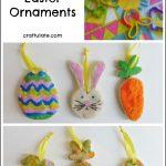 Quick Salt Dough Easter Ornaments