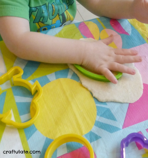Quick Salt Dough Easter Ornaments - using a simple recipe and cookie cutters!