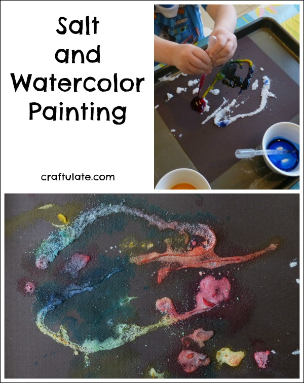 Salt and Watercolor Painting - a great art technique for kids to try!