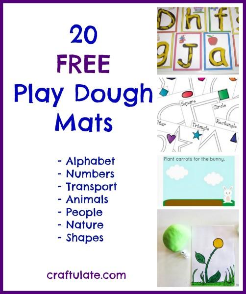 20 Free Play Dough Mats