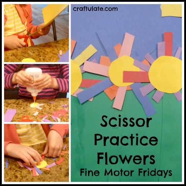 Scissor Practice Flowers {Fine Motor Fridays}