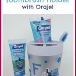 Personalised Toothbrush Holder with Orajel