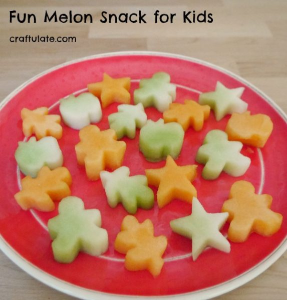 Fun Melon Snack for Kids - an easy way to make fruit more interesting!