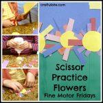 Scissor Practice Flowers