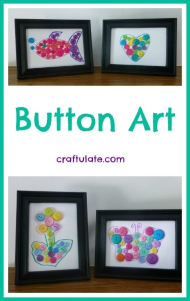 Button Art - a fun craft for kids!
