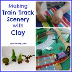 Making Train Track Scenery with Clay