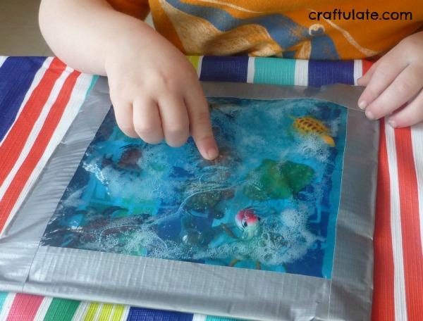 Ocean Sensory Bag - mess free discovery fun!