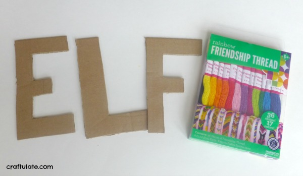 Thread-Wrapped Letters - fine motor skills for kids