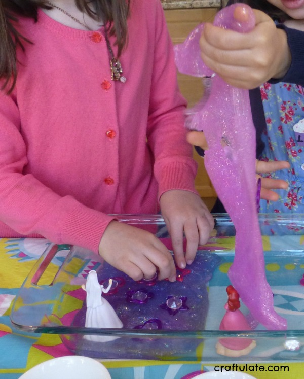 Princess Slime - a sparkly tactile sensory experience