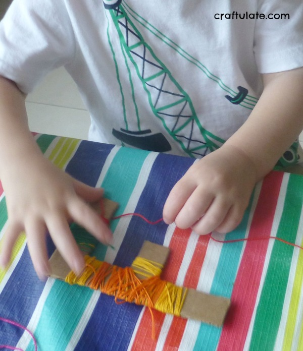 Thread-Wrapped Letters for fine motor practice