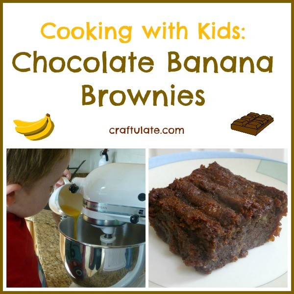 Chocolate Banana Brownies - cooking with kids!
