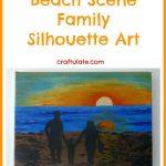 Beach Scene Family Silhouette Art