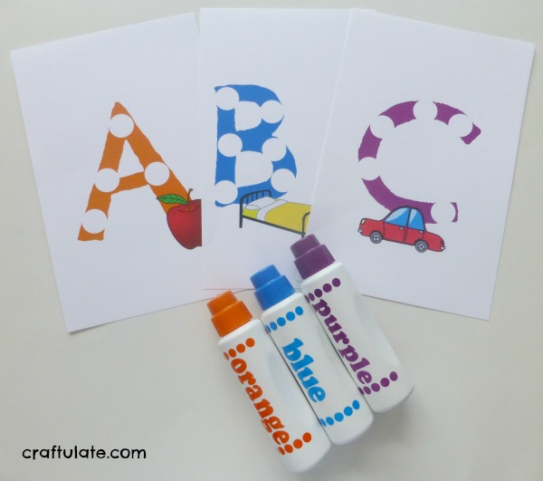 Dot Marker Alphabet Cards