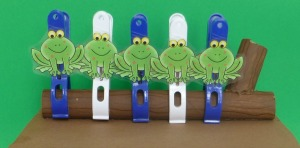 Five Green and Speckled Frogs Fine Motor Activity