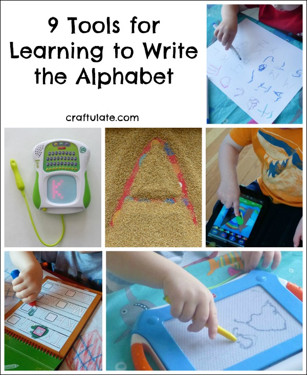 9 Tools for Learning to Write the Alphabet