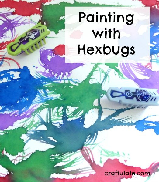 Painting with Hexbugs - a fun robotic art activity!