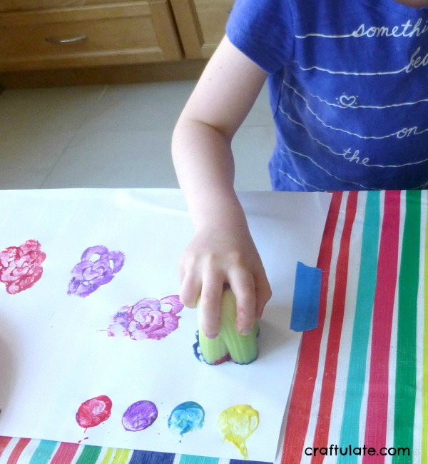 Vegetable Stamping - art activity for kids
