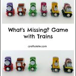 What's Missing? Game with Trains
