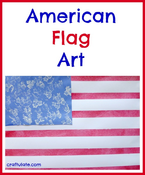 American Flag Art for kids to make