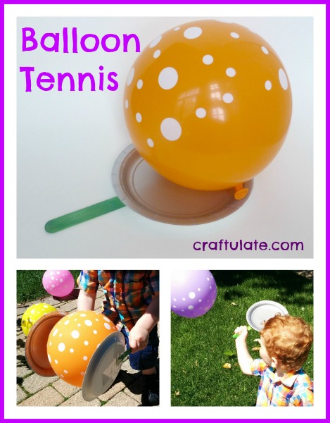 Balloon Tennis - gross motor fun for kids