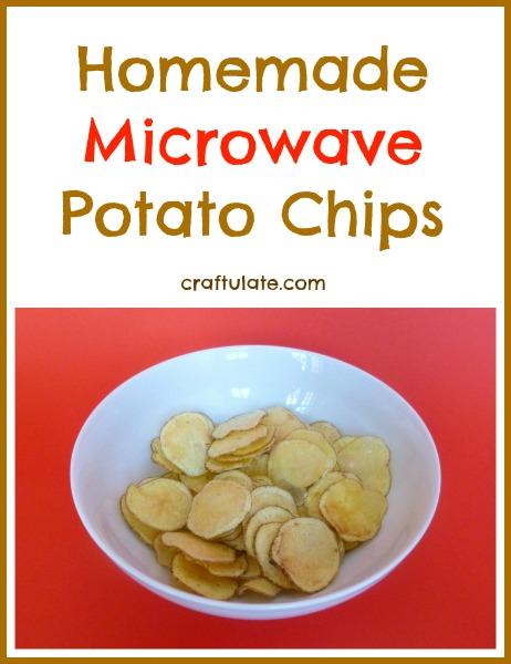 Microwave Potato Chips - kids will love them!