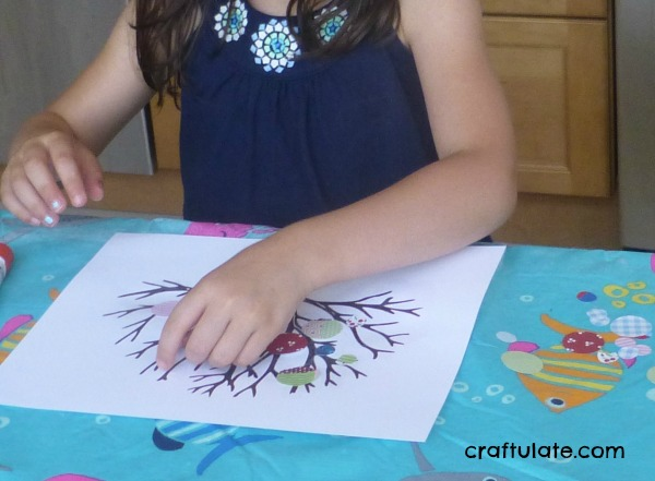 Circle Punch Art - a pretty art technique for kids to try!