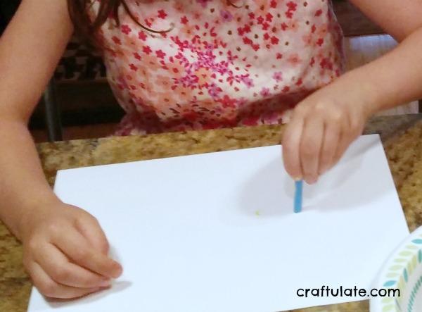 Handprint Corn Cob - a fall art project for kids to make