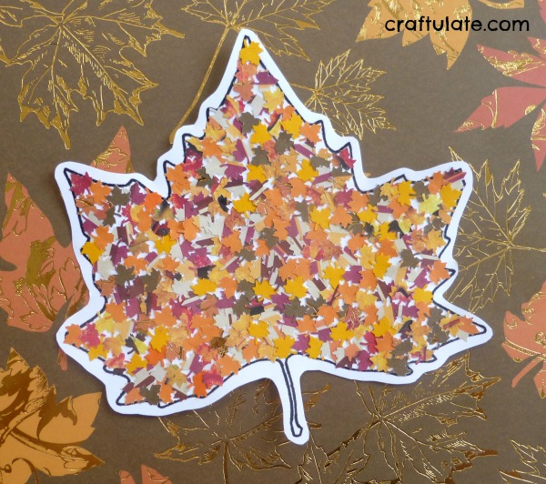 Fall Leaf Punch Collage Craftulate