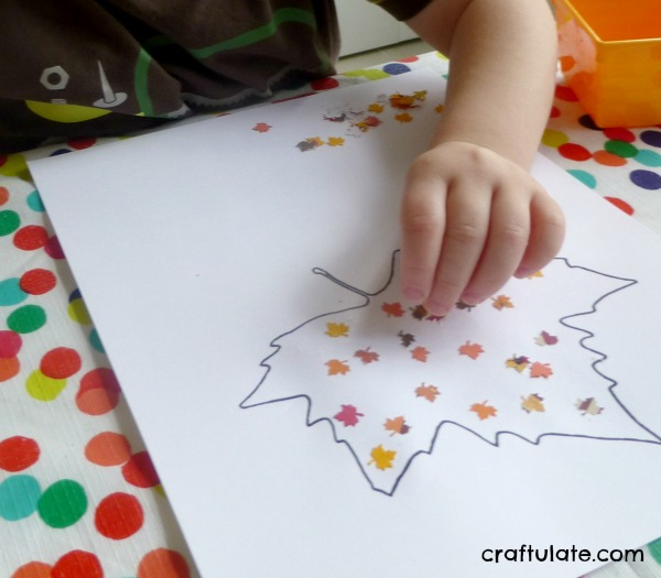 Fall Leaf Punch Collage for kids to make