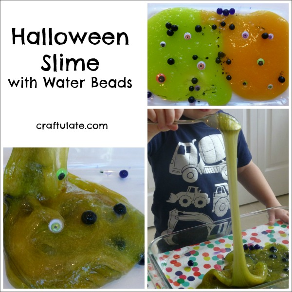 Halloween Slime with Water Beads and Googly Eyes! Sensory fun for kids!