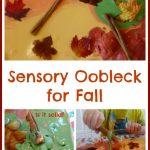 Sensory Oobleck for Fall