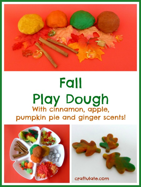 Fall Play Dough Fun - cinnamon, apple, pumpkin pie and ginger!