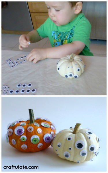 Googly Eye Pumpkins for kids to make