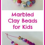Marbled Clay Beads for Kids