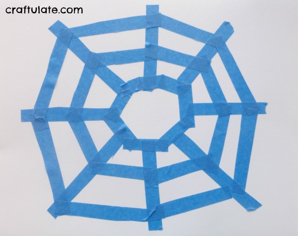 Easy Spider Web Art