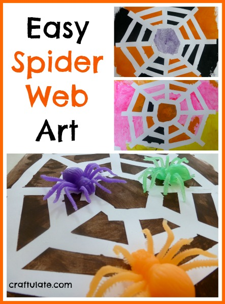 Easy Spider Web Art using the tape resist technique