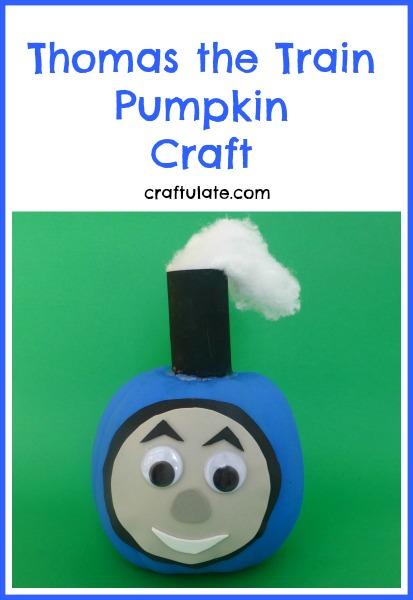 Thomas the train pumpkin craft craftulate for Thomas pumpkin template