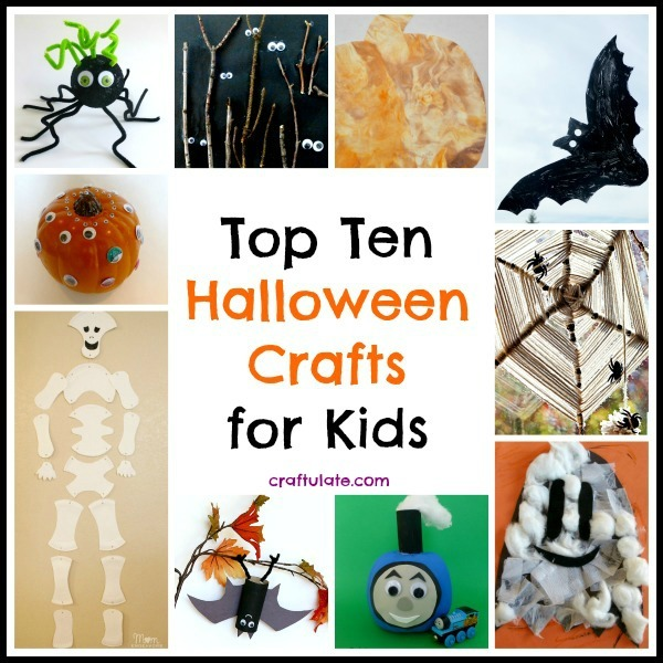 Top Ten Halloween Crafts for Kids from Craftulate