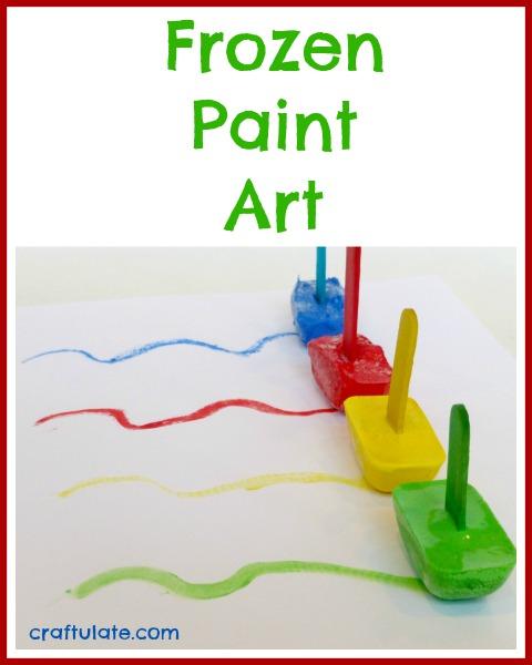 Frozen Paint Art - a sensory art activity for kids