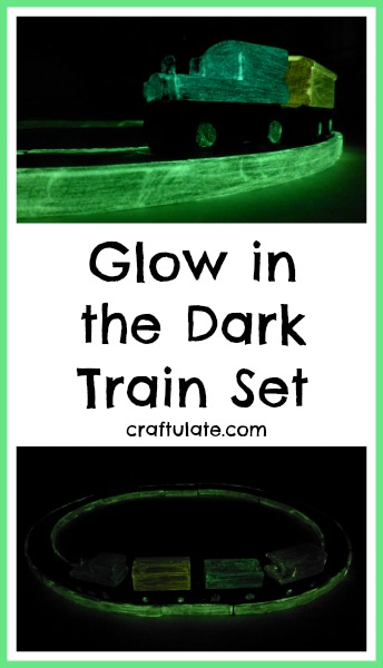 Glow in the Dark Train Set - such a fun way to enhance a wooden train track!
