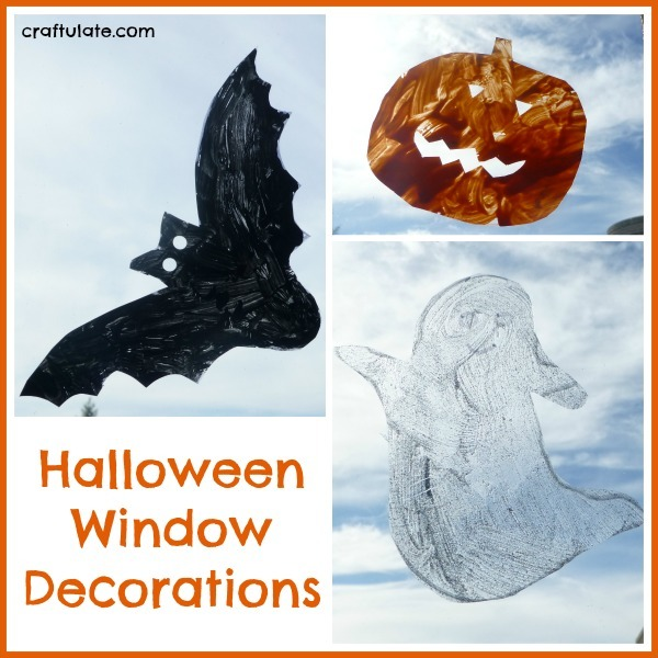Halloween Window Decorations for kids to make!