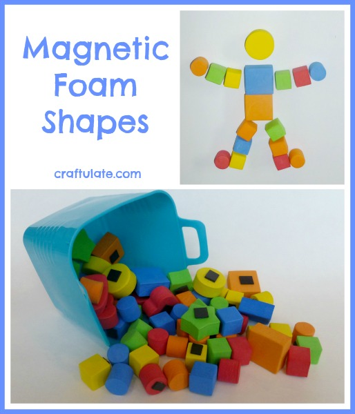 Magnetic Foam Shapes - make pictures, sort, and more!