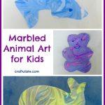 Marbled Animal Art for Kids