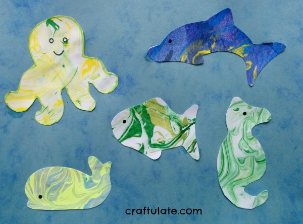 Marbled Animal Art for Kids
