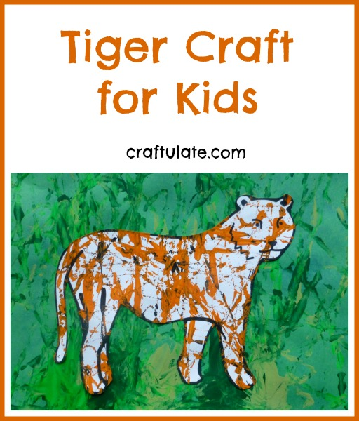 Tiger Craft for Kids from Craftulate
