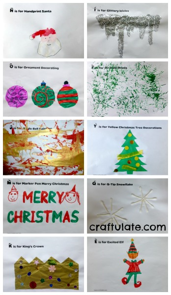 Christmas ABC Art Book - a free printable from Craftulate