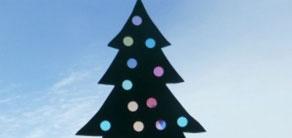 Christmas Tree Craft with Suncatcher Lights