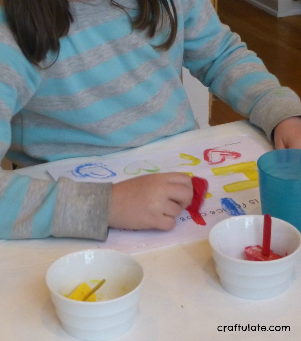 Frozen Paint Art - a sensory art activity for kids